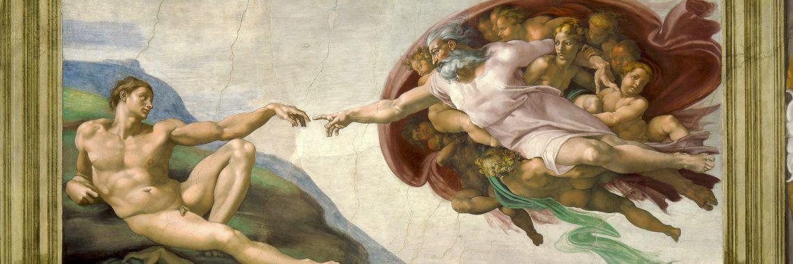 "Anton Bruckner Te Deumm - Michelangelo: ""Die Erschaffung Adams"""