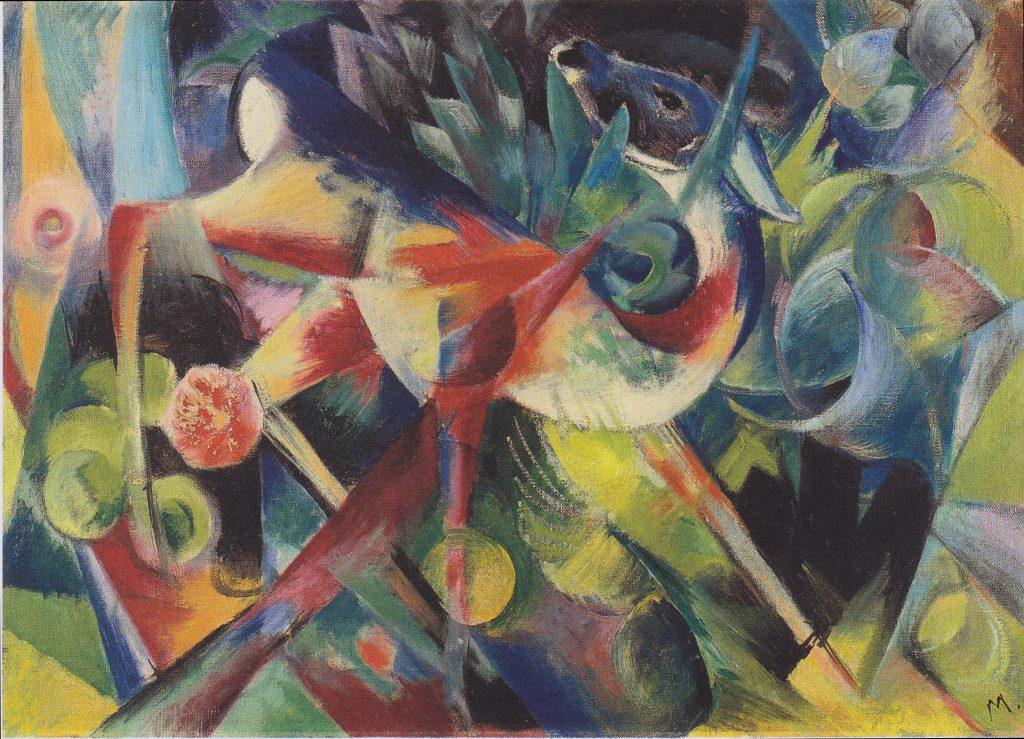 Franz Marc - Reh im Blumengarten