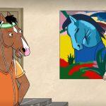 """""""Blaues Pferd I"""" von Franz Marc in der Netflis-Serie """"Bojack Horseman"""", Staffel 2, Folge 1"""