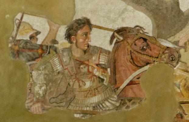 Alexander und Bukephalos bei der Schlacht bei Issos