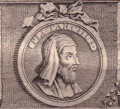 Plutarch auf einer Darstellung aus dem Jahr 1768